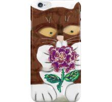 Purple Rose and Kitten iPhone Case/Skin