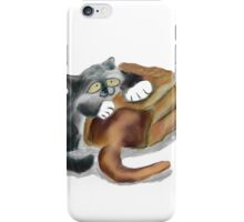 Paper Bag and Two Kittens iPhone Case/Skin