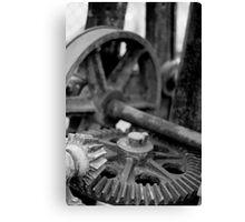 Crane Gears Canvas Print