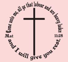 MATTHEW 11:28 circular One Piece - Short Sleeve