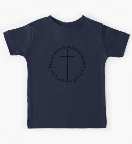 MATTHEW 11:28 circular Kids Tee