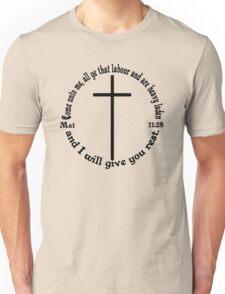 MATTHEW 11:28 circular Unisex T-Shirt