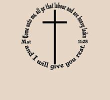 MATTHEW 11:28 circular Womens Fitted T-Shirt