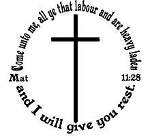 MATTHEW 11:28 circular by Calgacus
