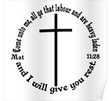 MATTHEW 11:28 circular Poster