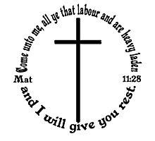 MATTHEW 11:28 circular Photographic Print