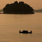 Brahmaputra River At Sunset by Gina Ruttle  (Whalegeek)