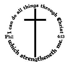 PHILIPPIANS 4:13 circular by Matthew Scotland