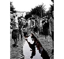 Puddle in Flea Market Photographic Print