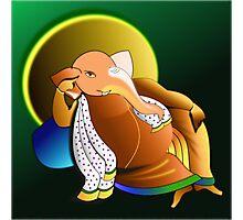 The lazy Genius, Prof. Ganesha  :) Photographic Print