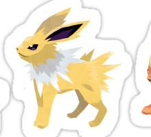 [Sticker] Vaporeon Jolteon Flareon Low Poly Sticker