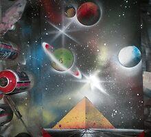 Pyramid on horizon. by SuperSprayer