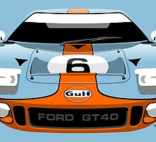 Ford GT40 Gulf colours by car2oonz