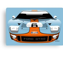 Ford GT40 Gulf colours Canvas Print