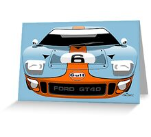 Ford GT40 Gulf colours Greeting Card