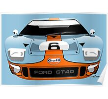 Ford GT40 Gulf colours Poster