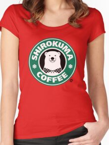 Shirokuma Coffee Women's Fitted Scoop T-Shirt