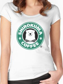 Shirokuma Coffee Women's Fitted Scoop T-Shirt