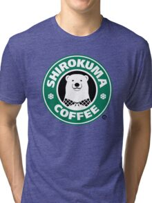 Shirokuma Coffee Tri-blend T-Shirt