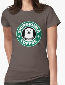 Shirokuma Coffee Womens Fitted T-Shirt