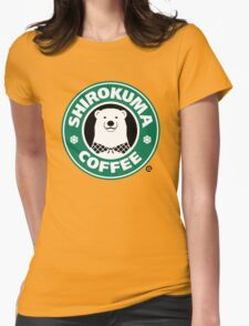 Shirokuma Coffee Womens Fitted T-Shirt