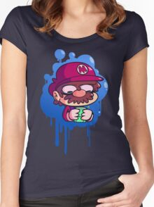 Mario & Gameboy Women's Fitted Scoop T-Shirt