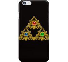 MAGIC ELFIC TALISMAN /GOLD TRIANGLE WITH GEMSTONES iPhone Case/Skin