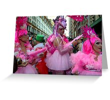 Pink Powder Puffs Greeting Card