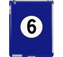 6, Sixth, Number Six, Number 6, Racing, Six, Competition, on Navy Blue iPad Case/Skin