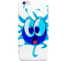 Shocked Water Blue Smiley Face iPhone Case/Skin