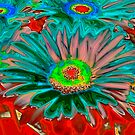 Gerber Daisy stylelized by Jeffrey  Sinnock