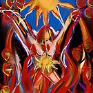 With the Dance of Sun and Fire she grew her Warrior Wings  by Anthea  Slade