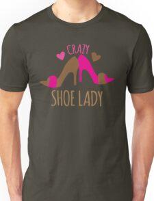 Crazy Shoe Lady Unisex T-Shirt