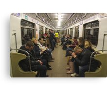Moscow - Metro Carriage Canvas Print