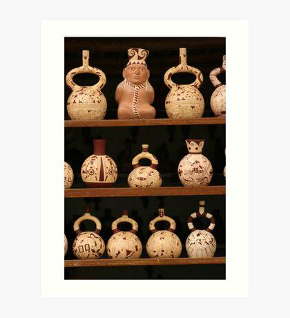 Peruvian Pottery Art Print