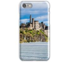 Calton Hill, Edinburgh, Scotland when viewed from North Bridge iPhone Case/Skin