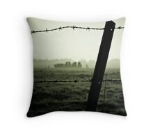 Barbed History Throw Pillow