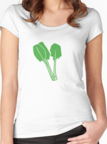 Vegasaur - Baby Spinach Women's Fitted Scoop T-Shirt