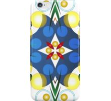 Colored Balls - Gold and Blue iPhone Case/Skin