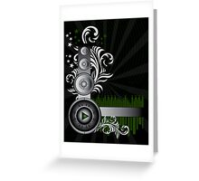 Music Background Greeting Card