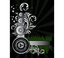 Music Background Photographic Print