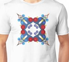 Colored Balls - Blue and Red Unisex T-Shirt