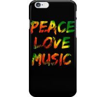 Peace Love Music iPhone Case/Skin