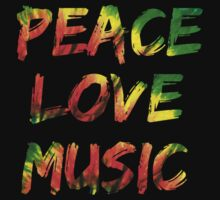 Peace Love Music by coolvintage