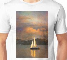 Rembrandt sailing in Lisbon. Unisex T-Shirt
