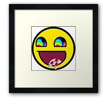Awesome MEME Face flip drugs Framed Print