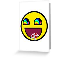 Awesome Face flip drugs Greeting Card