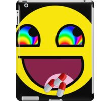 Awesome Face flip drugs iPad Case/Skin
