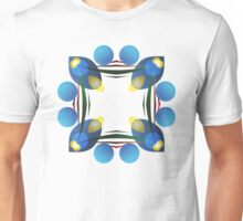 Blue Petals of Light Unisex T-Shirt