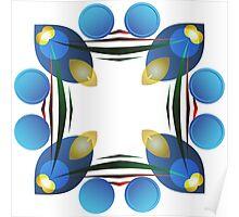 Blue Petals of Light Poster
